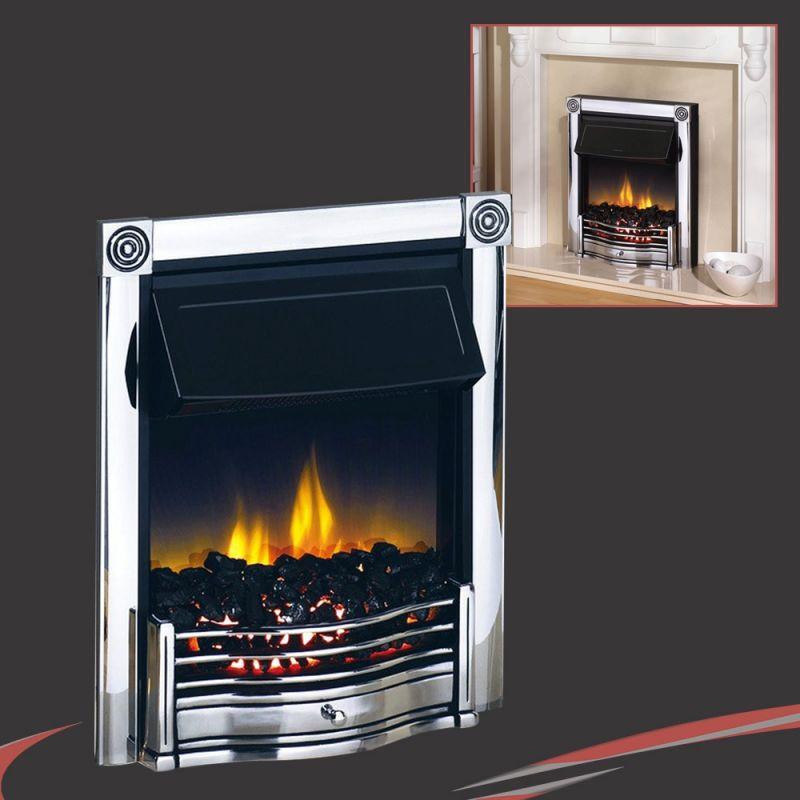 Dimplex 2 0kw Inset Quot Horton Quot Thermostatic Chrome Electric