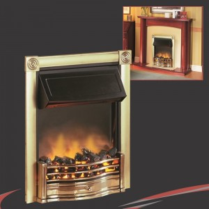 Dimple Horton Brass Thermostatic Electric Fire