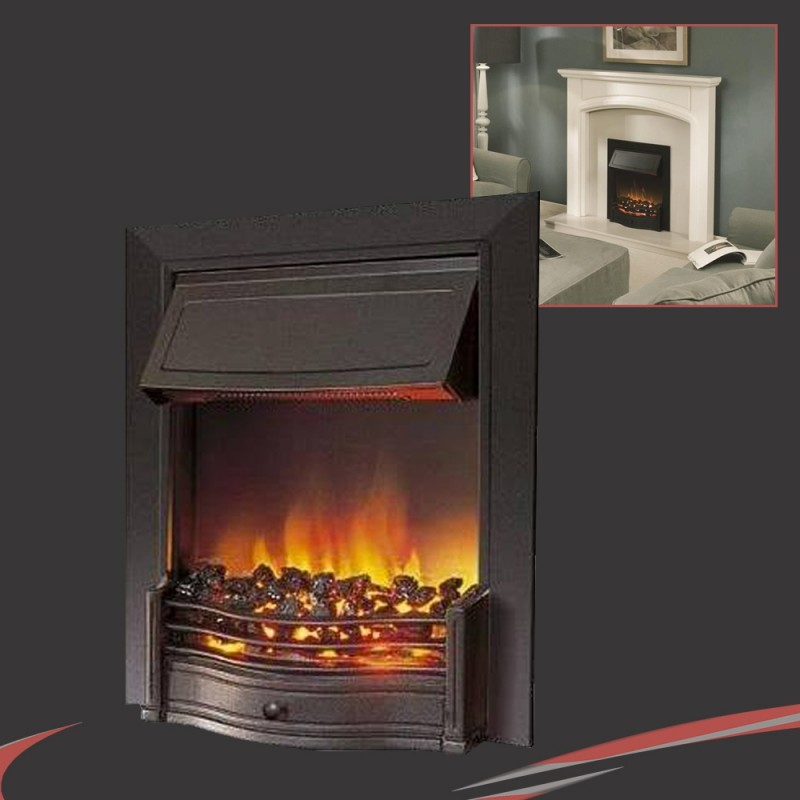 Dimplex 2 0kw Inset Or Freestanding Danesbury Thermostatic Black Electric Fire Nwt Direct