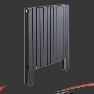 "588mm(w) x 800mm(h)""Axim"" Horizontal Anthracite Radiator"