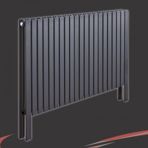 "1000mm(w) x 800mm(h) ""Axim"" Horizontal Anthracite Radiator"