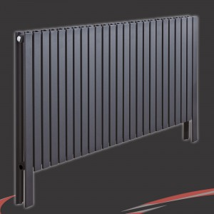 "1200mm(w) x 800mm(h) ""Axim"" Horizontal Anthracite Radiator"