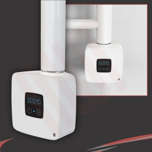 "Rica ""Stone"" White Thermostatic Element with Bluetooth Connectivity"