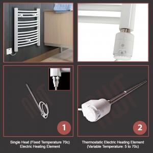 500mm  x 800mm Single Heat Straight White Towel Rail