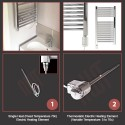 350mm (w) x 430mm (h) Electric Stainless Steel Towel Rail (Single Heat or Thermostatic Option)
