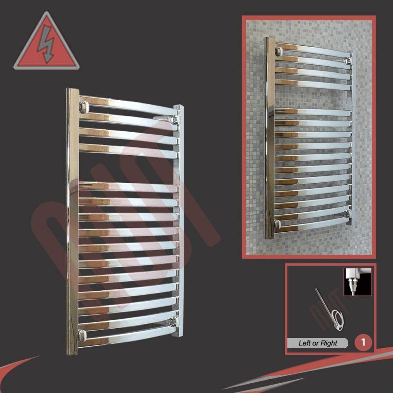 Dimplex 250w Chrome Electric Towel Rail: 500mm (w) X 800mm (h) Ellipse Chrome Electric Towel Rails