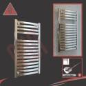 500mm x 800mm Single Heat Ellipse Chrome Towel Rail