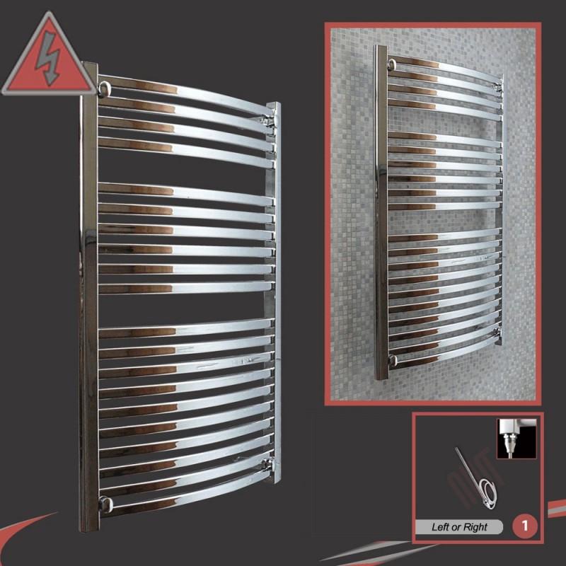 600mm x 1100mm Single Heat Ellipse Chrome Towel Rail