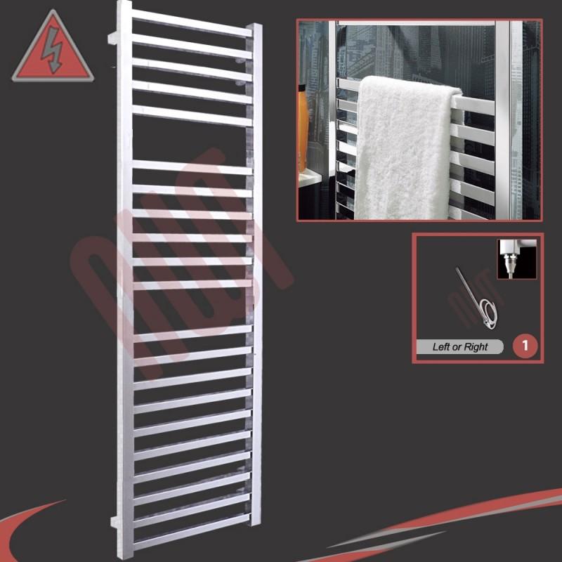 500mm (w) x 1700mm (h) Single Heat Denbigh Chrome Towel Rail