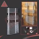 500mm x 900mm Single Heat Neath Chrome Towel Rail