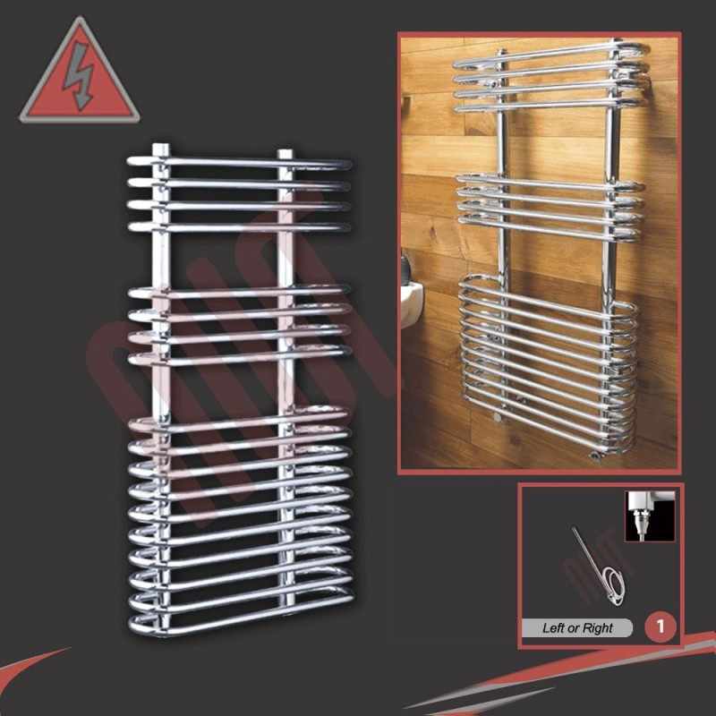 500mm x 900mm Single Heat Neath Chrome Towel Rail