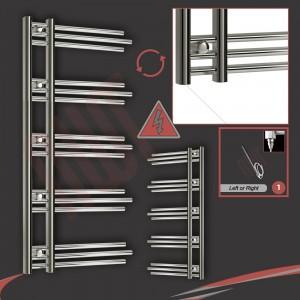 500mm (w) x 1200mm (h) Electric Beaumaris Chrome Towel Rail (Single Heat or Thermostatic Option)