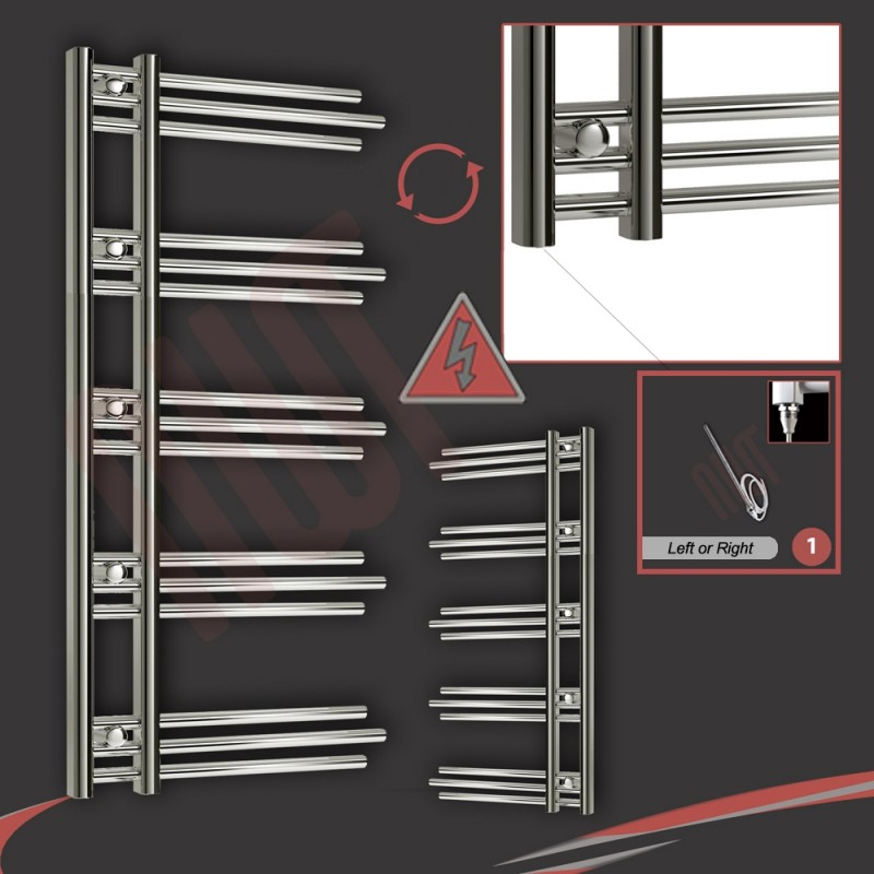 500mm (w) x 1200mm (h) Electric Beaumaris Chrome Towel Rail (Single Heat or Thermostatic Option)