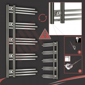 "500mm (w) x 1200mm (h) Electric ""Beaumaris"" Chrome Towel Rail (Single Heat or Thermostatic Option)"