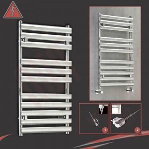 500mm (w) x 930mm (h)Electric Brecon Chrome Designer Towel Rail (Single Heat or Thermostatic Option)