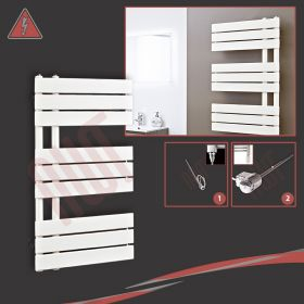 """500mm (w) x 800mm (h) Electric """"Apollo"""" Latte Heated Towel Rail (Single Heat or Thermostatic Option)"""