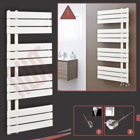 """500mm (w) x 1200mm (h) Electric """"Apollo"""" Latte Heated Towel Rail (Single Heat or Thermostatic Option)"""