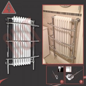 635mm x 1000mm Single Heat Tranmere Traditional Towel Rail