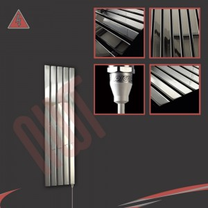Corwen Chrome Electric Vertical Radiators (6 Sizes - Single Heat or Thermostatic Option)