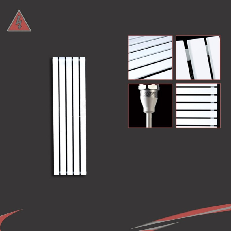 Corwen White Electric Vertical Radiators (6 Sizes - Single Heat or Thermostatic Option)