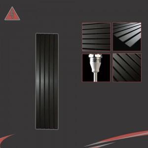 Corwen Black Electric Vertical Radiators (6 Sizes - Single Heat or Thermostatic Option)