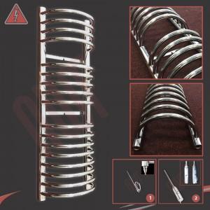 300mm (w) x 1200mm (h) Electric Buckley Chrome Towel Rail (Single Heat or Thermostatic Option)