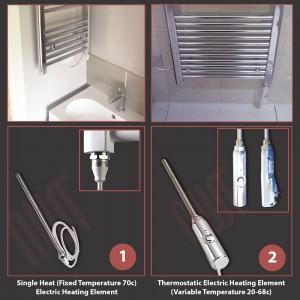 300mm (w) x 1600mm (h) Electric Buckley Chrome Towel Rail