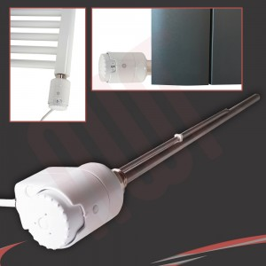 "RICA ""Atlantis"" Chrome Thermostatic Electric Heating Element"