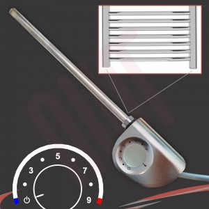 """Rica """"Shorty"""" Room Stat Thermostatic Silver Element"""