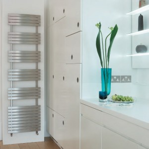 "Aeon ""Stanza"" Designer Brushed & Polished Stainless Steel Towel Rails (3 Sizes)"