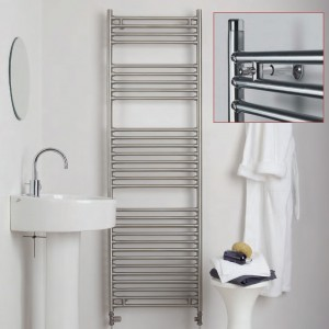 "Aeon ""Seren"" Designer Brushed & Polished Stainless Steel Towel Rails (7 Sizes)"