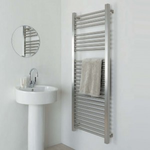 "Aeon ""Serhad"" Designer Brushed Stainless Steel Towel Rails (6 Sizes)"