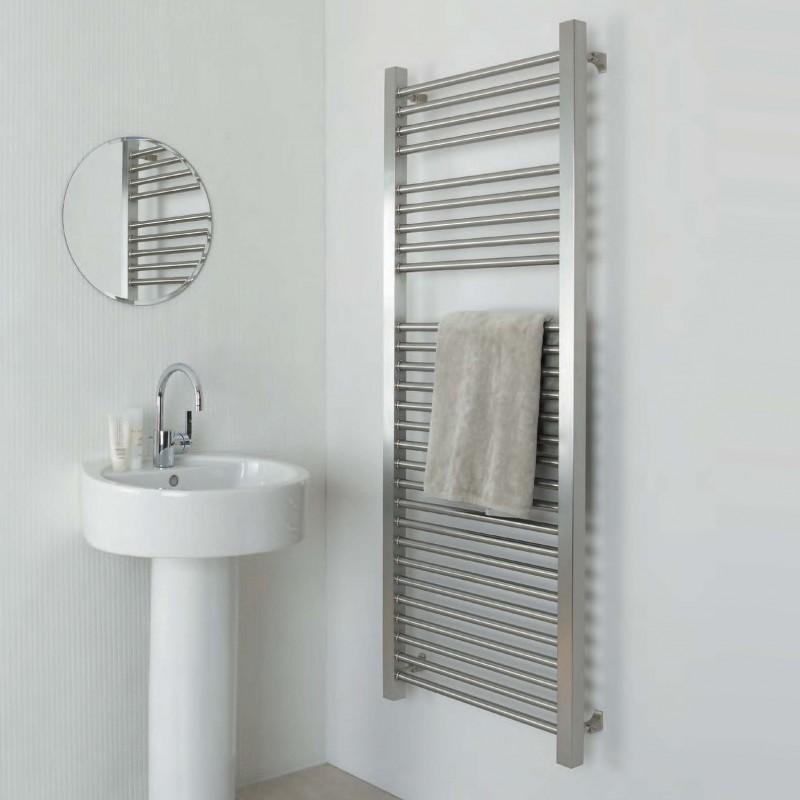 "Aeon ""Serhad"" Designer Brushed Stainless Steel Towel Rails (6 Sizes)"