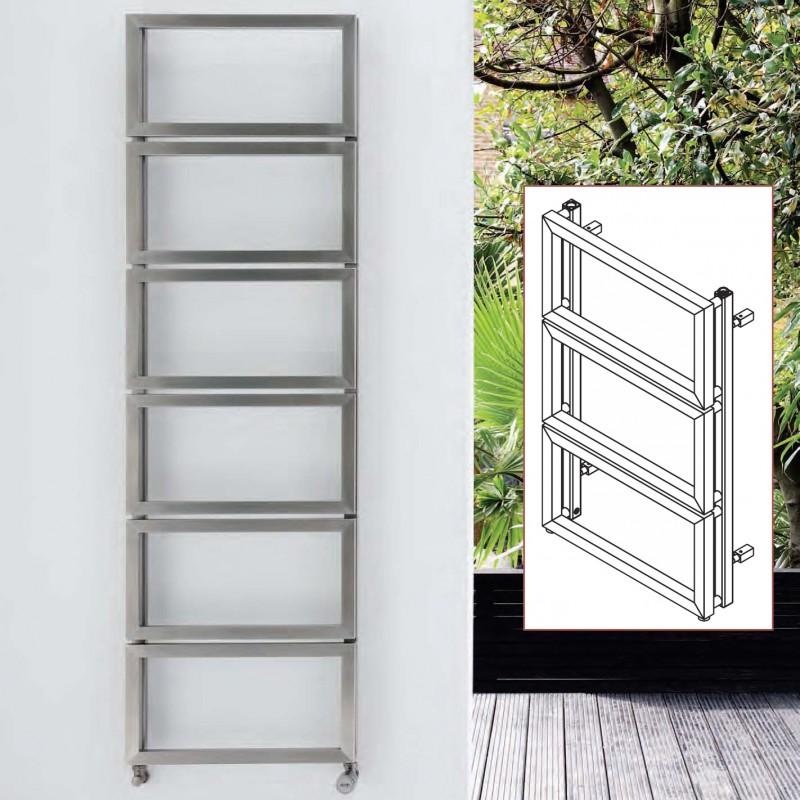 "Aeon ""Fatih"" Designer Brushed Stainless Steel Towel Rails (3 Sizes)"