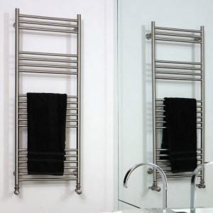 "Aeon ""Tora"" Designer Brushed Stainless Steel Towel Rails (6 Sizes)"