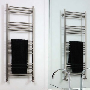 "Aeon ""Tora"" Designer Brushed Stainless Steel Towel Rails (6 Sizes)"