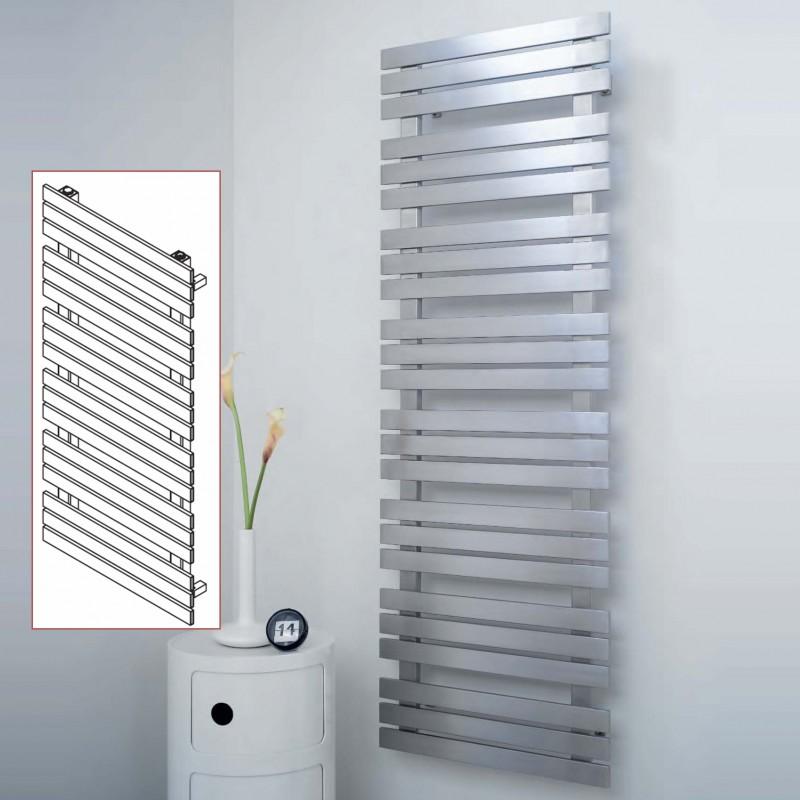 """Aeon """"Kaptan"""" Designer Brushed Stainless Steel Towel Rails ( Sizes)"""