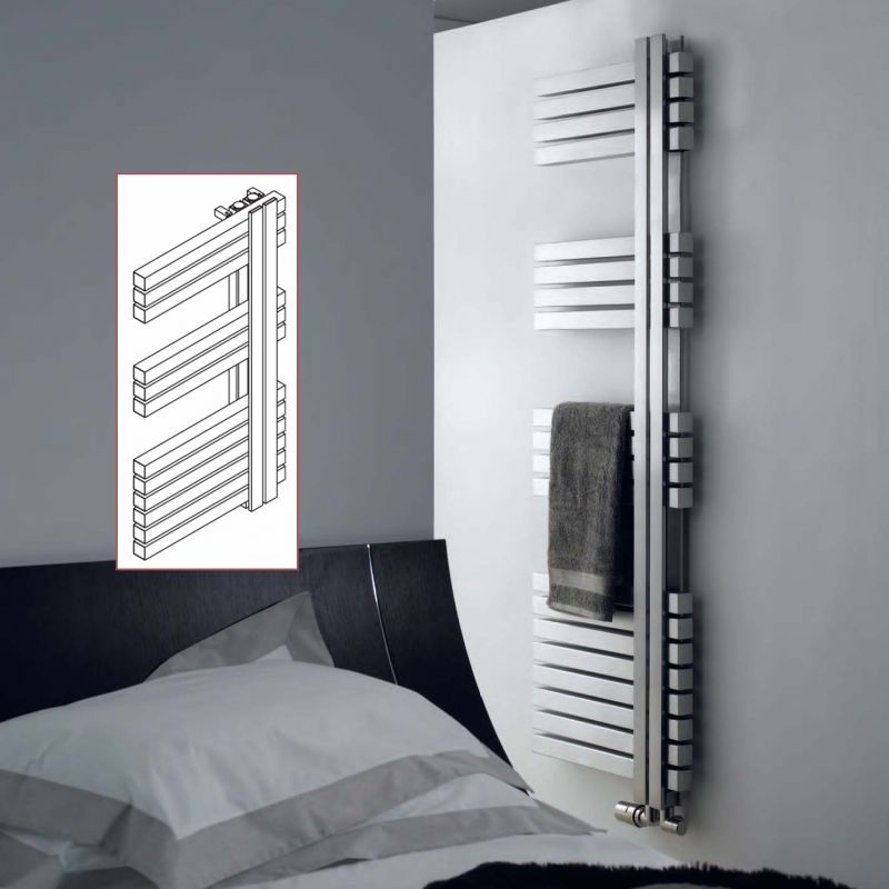 Aeon Combe Brushed & Polished Stainless Steel Towel Rails