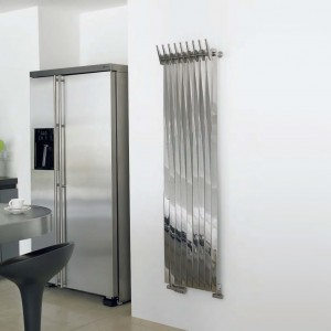 "Aeon ""Clipper"" Designer Brushed & Polished Stainless Steel Radiator (3 Sizes)"