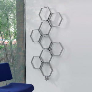 "Aeon ""Honeycomb"" Designer Brushed Stainless Steel Radiator (4 Sizes)"
