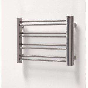 "Aeon ""Petit"" Designer Brushed Stainless Steel Towel Rail"