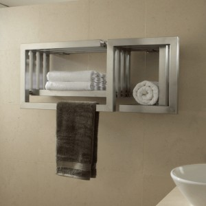"Aeon ""S-Type"" Designer Brushed & Polished Stainless Steel Towel Rails (2 Sizes)"