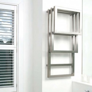 "Aeon ""Bosporus"" Designer Brushed Stainless Steel Towel Rails"
