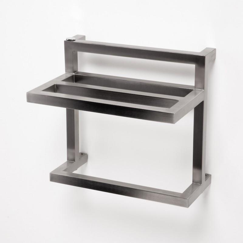 "Aeon ""F-Bar & T-Bar"" Designer Brushed & Polished Stainless Steel Towel Rails (3 Sizes)"