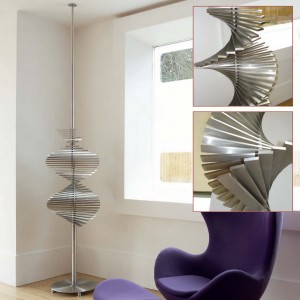 "Aeon ""Ecstasy"" 500mm (w) x 2200-3000mm (Adjustable) Designer Brushed Stainless Steel Free Standing Radiator"