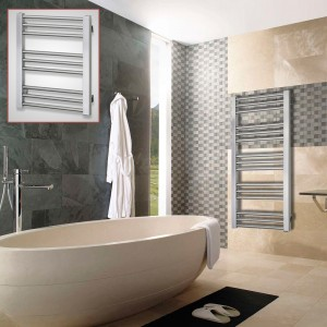 "Aeon ""Zenith"" Designer Brushed Stainless Steel Towel Rails (2 Sizes)"
