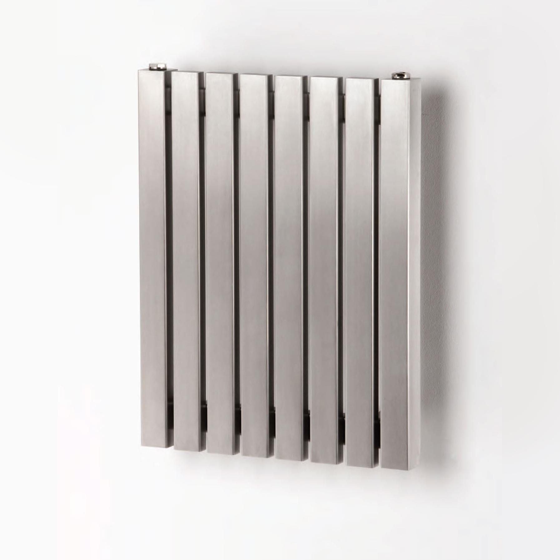Aeon Arat Wall Mounted Brushed Stainless Steel Radiators