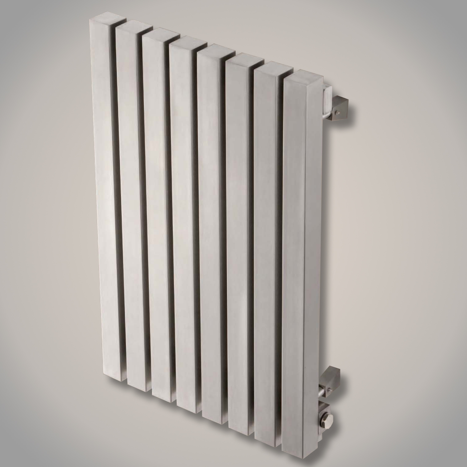 Aeon Kare Wall Mounted Brushed Stainless Steel Radiators