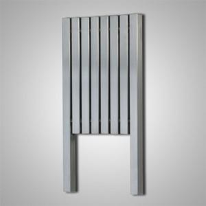 """Aeon """"Kare L"""" Designer Brushed Stainless Steel Radiator (10 Sizes)"""