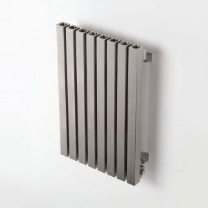 """Aeon """"Dalya"""" Designer Brushed Stainless Steel Radiator (7 Sizes)"""